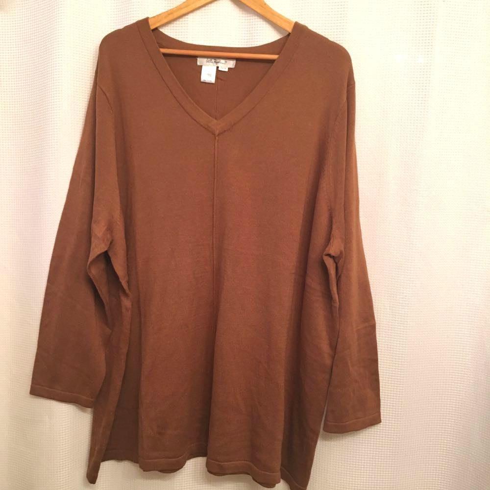 Ulla Popken Brown Orange Light Weight Sweater