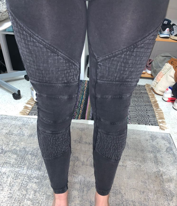 Sun & Shadow Faded Black Moto Leggings