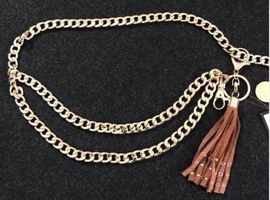 Nine West Gold Chain Fashion Belt