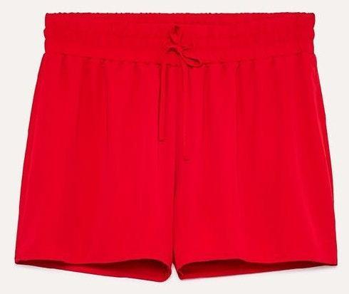 Aritzia Sunday Best Red Drawstring Shorts