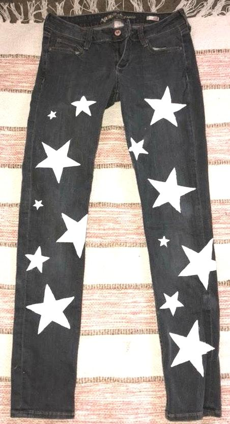 Hand painted Star Jeans