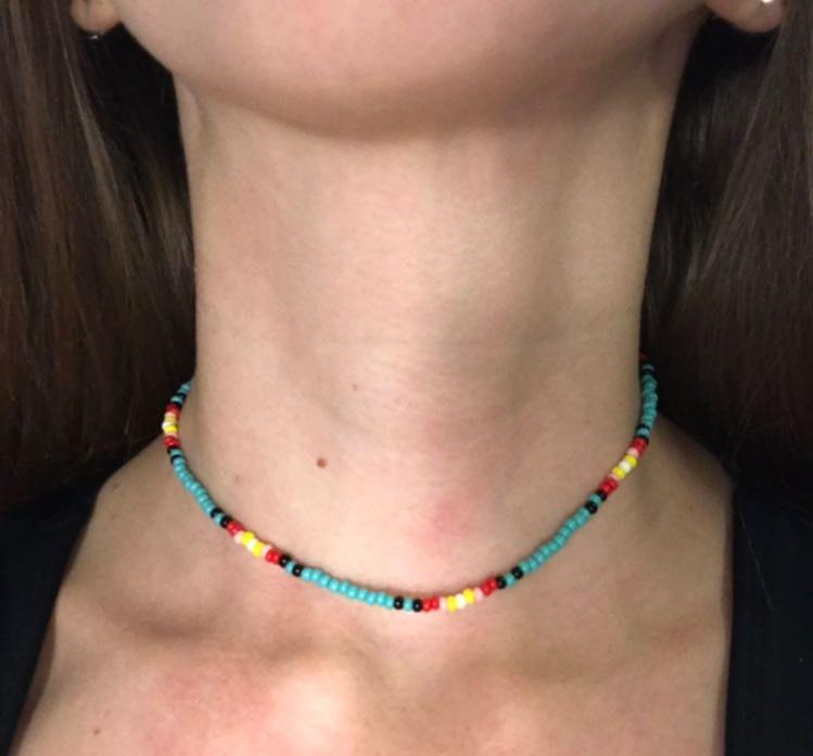 Sunset  Handmade Beaded Necklace