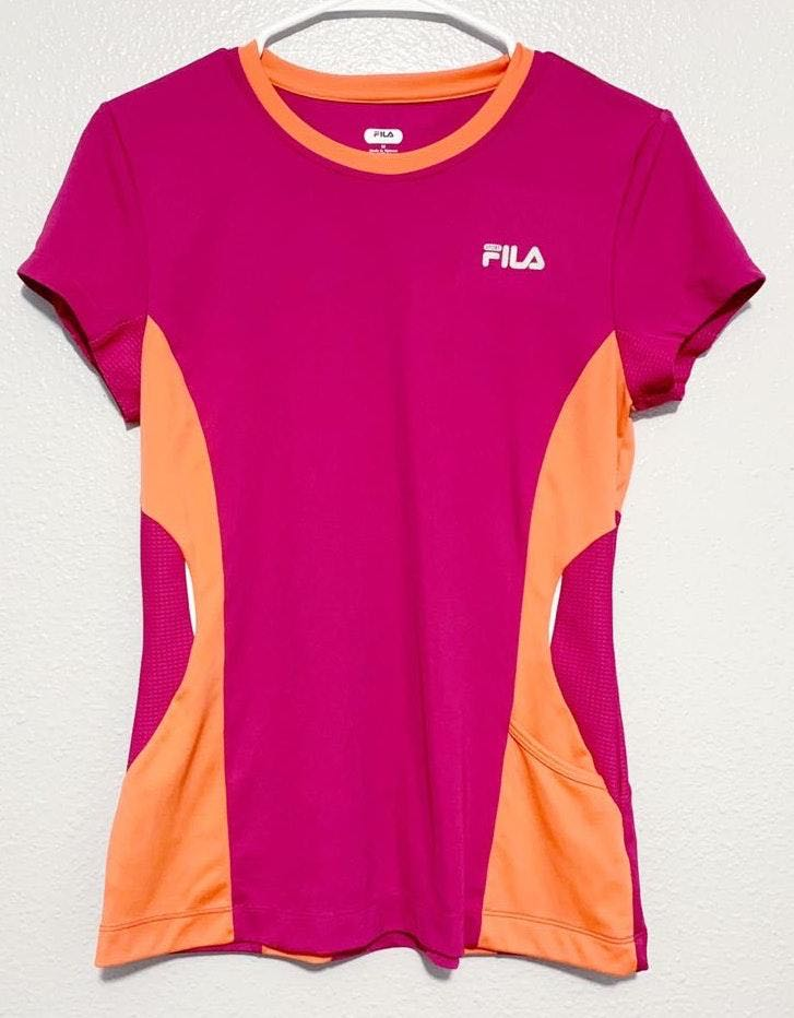 FILA Pink & Orange Shirt Sleeve Shirt