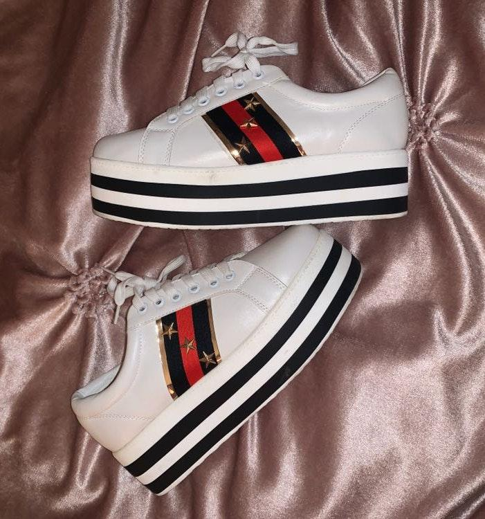 These Three Boutique Platform Sneakers