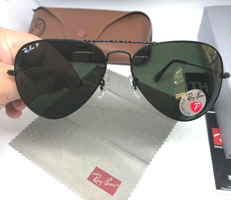 Ray-Ban Rayban Sunglasses Black Polarized Size 58mm