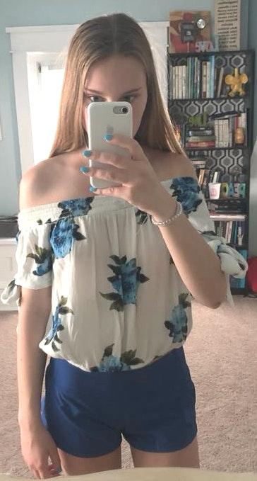 Kendall & Kylie Off Shoulder Floral Top