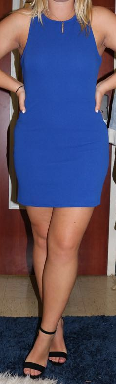 Sugar and L!ps Blue Bodycon Dress