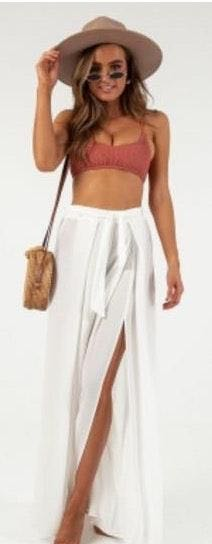 Showpo White Lovers Island Pants