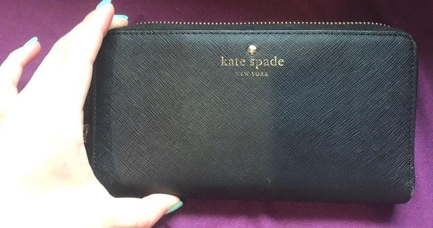 Kate Spade Zip Wallet Black