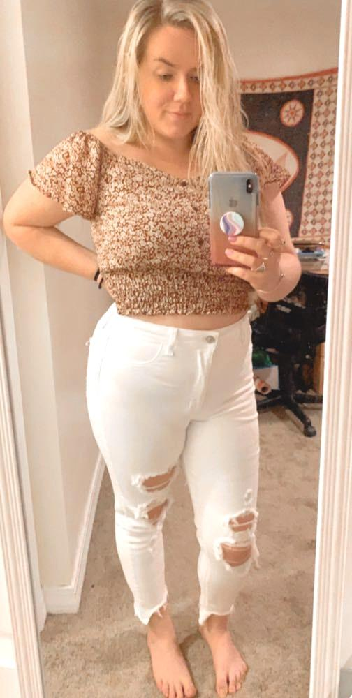 American Eagle Outfitters Ripped White Jeans