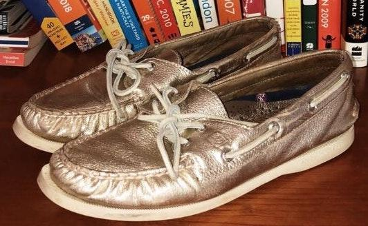 Sperry Metallic Boat Shoes