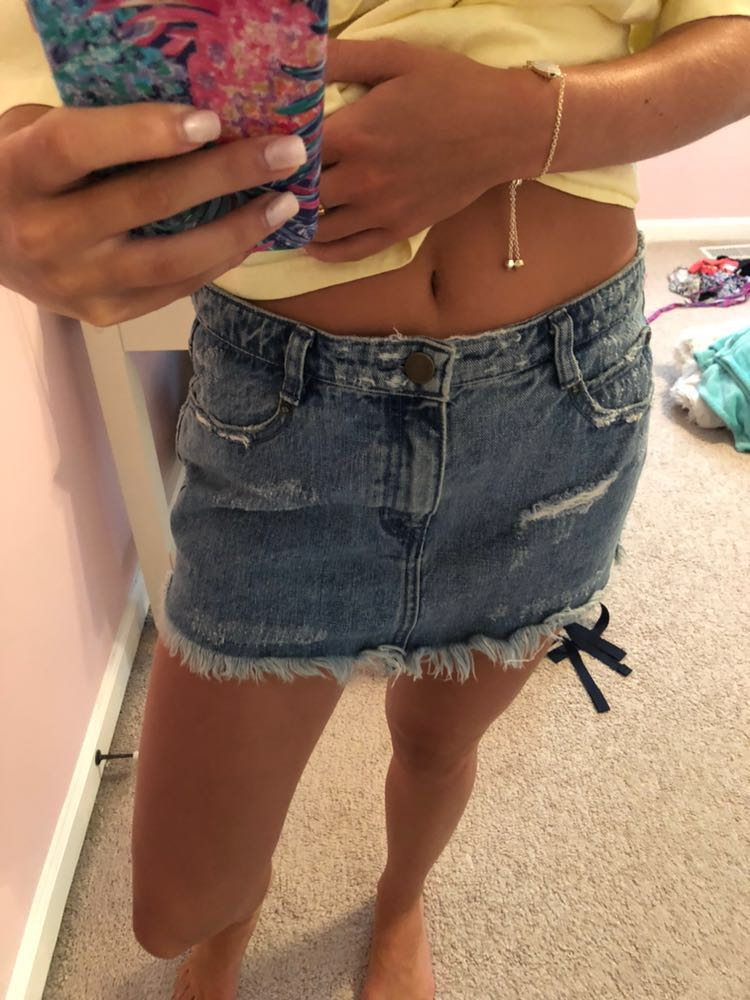 Free People jean skirt !