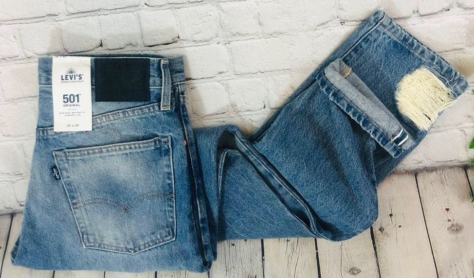 Levi's NWT Levis 501 Big E Selvedge High Rise Straight Button Fly Jeans