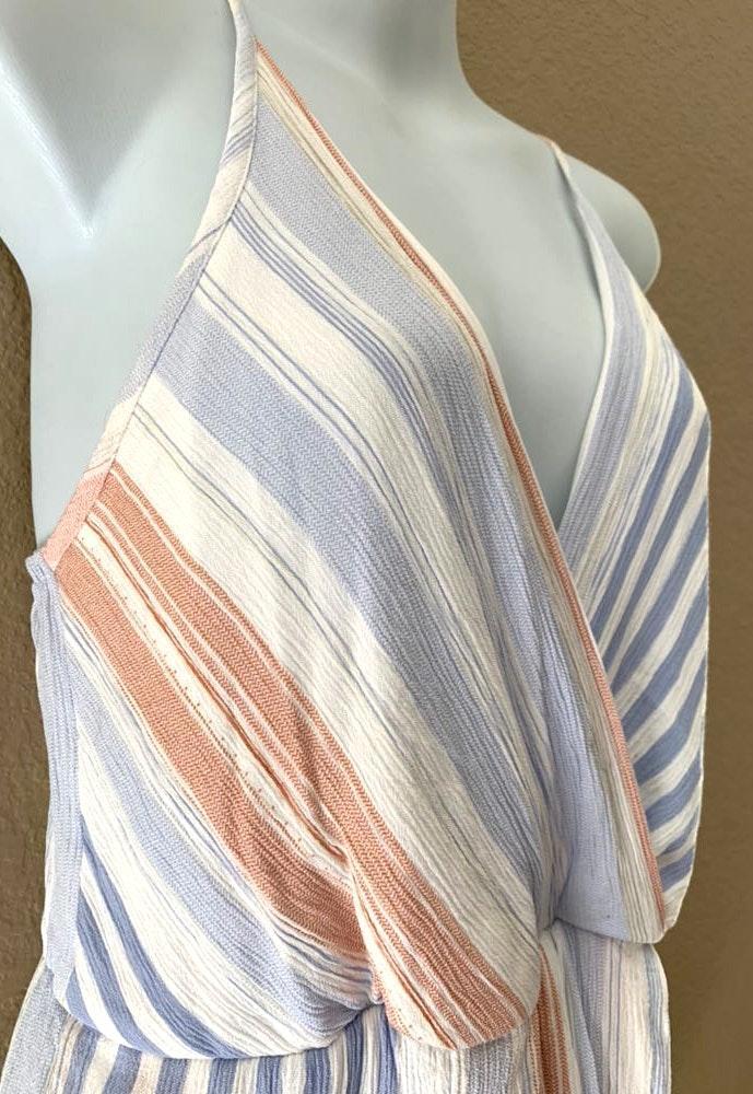 Style Rack Vertical Striped Cami Romper