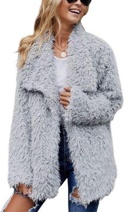 Gray Fuzzy Coat!