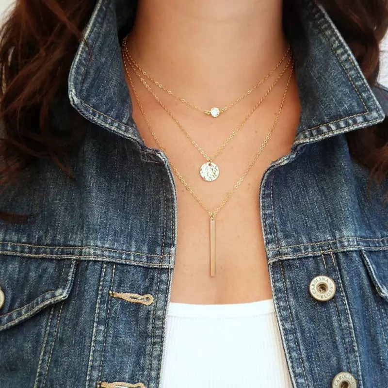 Boutique Crystal Gold Necklace
