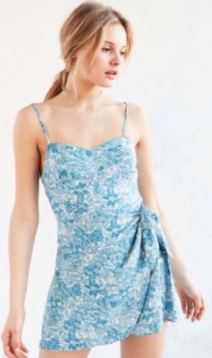 Urban Outfitters Kimchi Blue Flower Wrap Around Romper