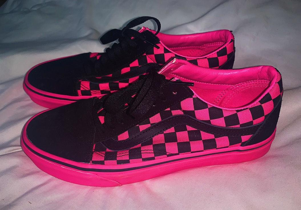 Vans TODAY ONLY Pink Checkered  low top