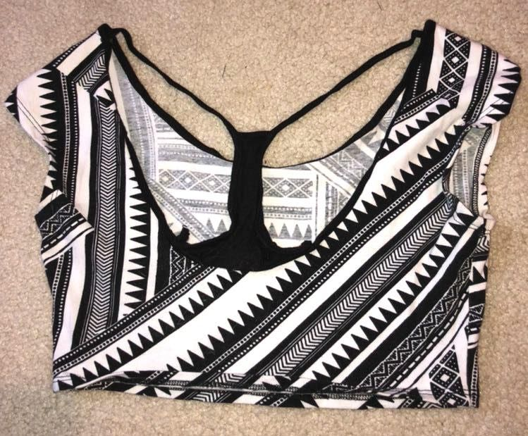 Body Central Geometric Crop Top