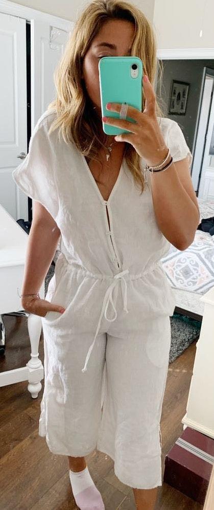 Anthropologie Cloth & Stone Button Jumpsuit