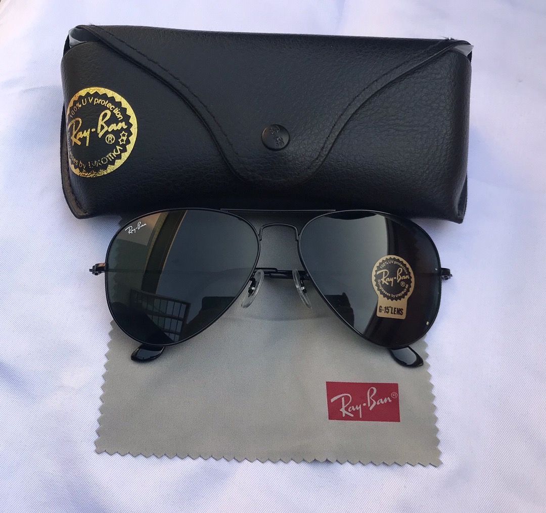 Ray-Ban Ray Ban Aviators 3025 Black Sunglasses