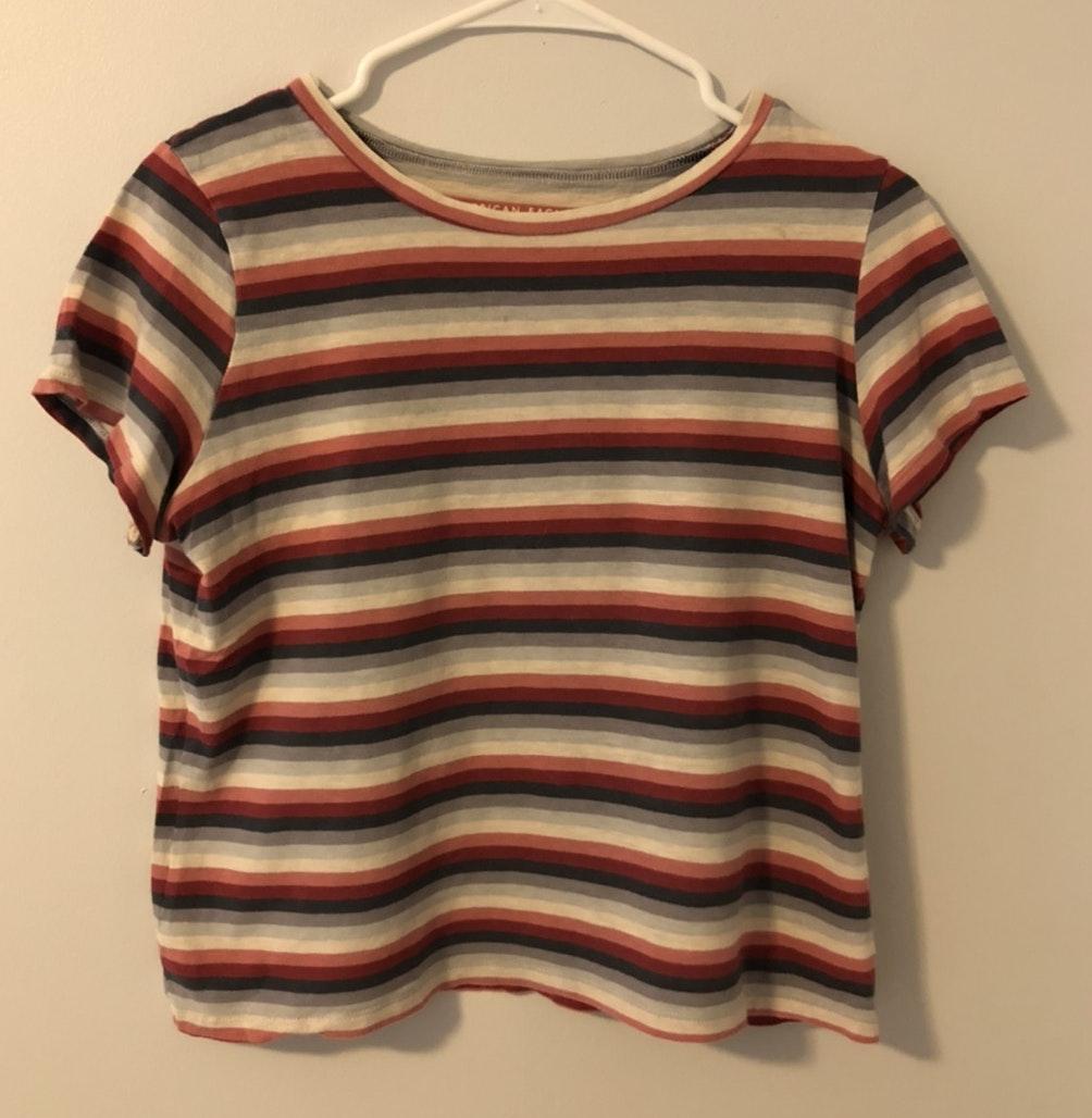 American Eagle Men/'s Long Sleeve Striped T-Shirt Navy US 3633-5 S