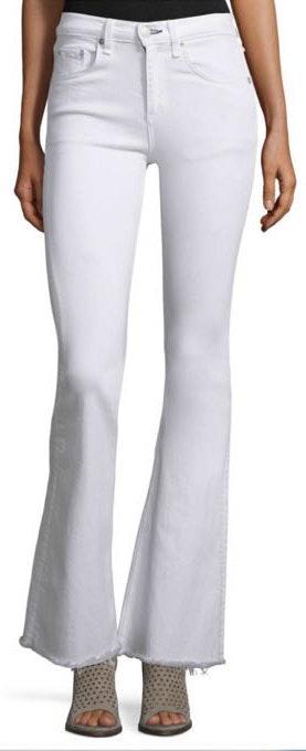 Rag & Bone White Flared Jeans