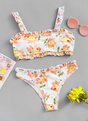 SheIn Floral Swimsuit