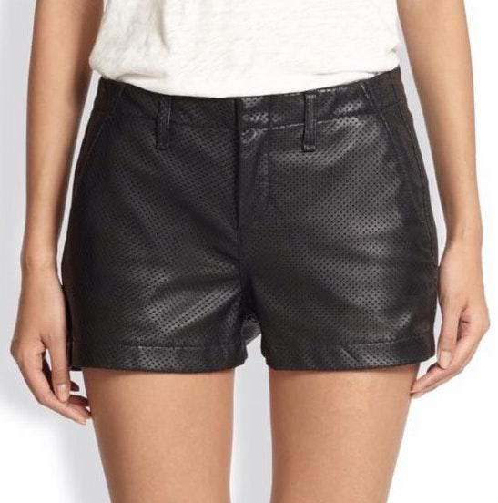 Rag & Bone Perforated lamb Leather Shorts