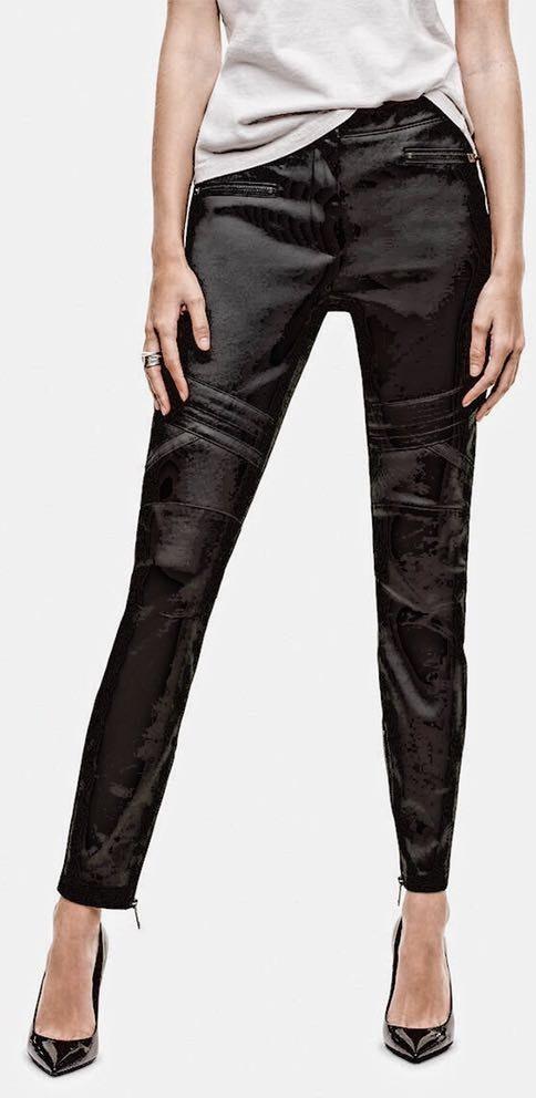Aritzia NWT  High Rise Talula Black Moto Pants 8
