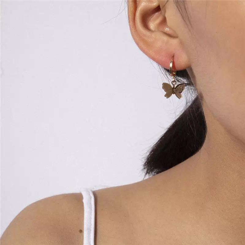 Boutique silver Butterfly Drop Earrings