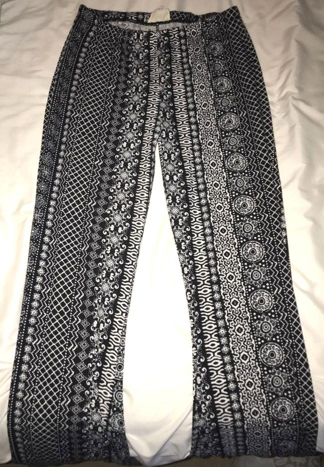 Pacsun Boho hippie flare pants (navy)