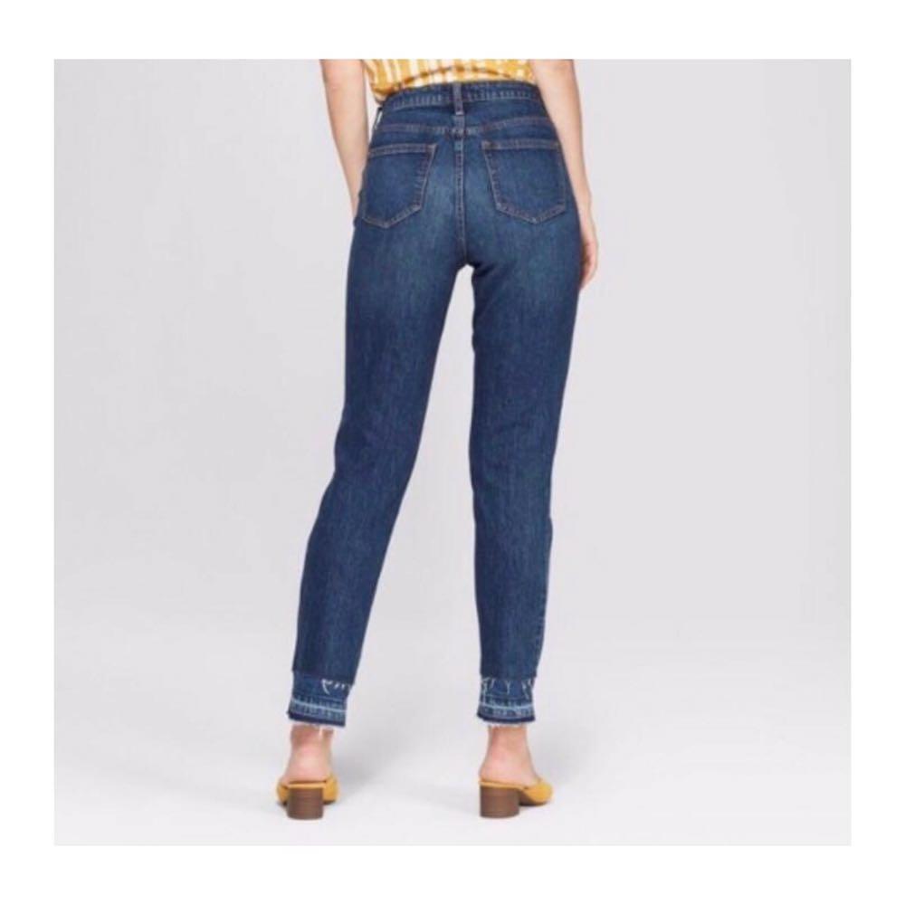 Universal Thread Released hem frayed jeans