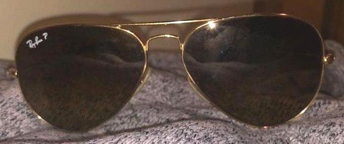 Ray-Ban Brown Lens Aviator Ray Bans