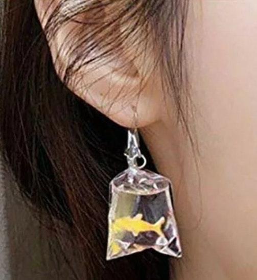 Gold Fish Cute Earrings. NEW!! 🐠