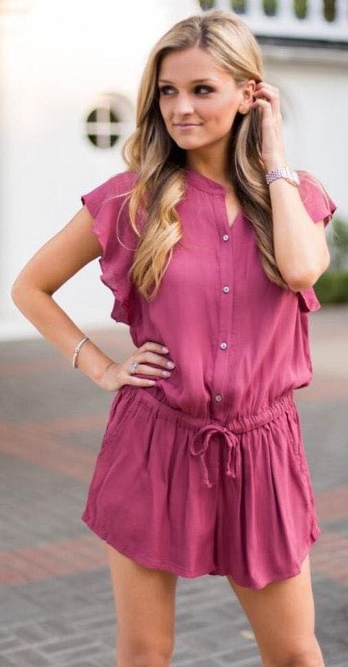 Impeccable Pig Button It Up Ruffle Romper