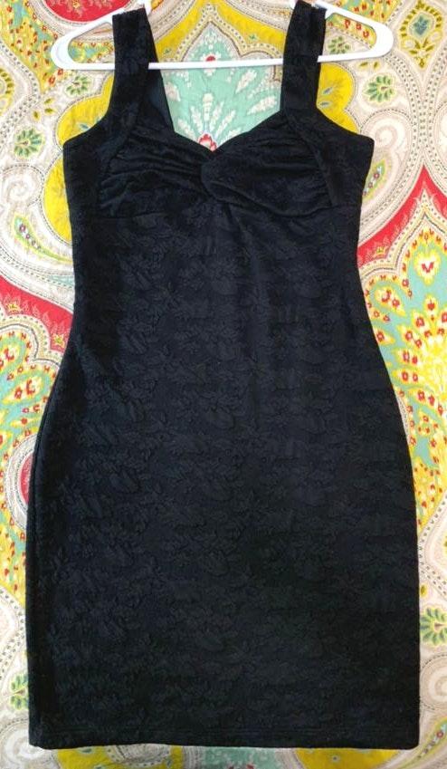 Candie's Woman's Little Black Dress (Lace!)