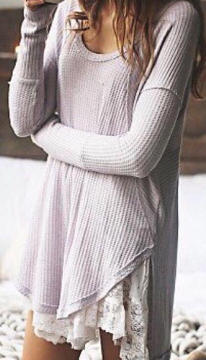 Free People Gray Top