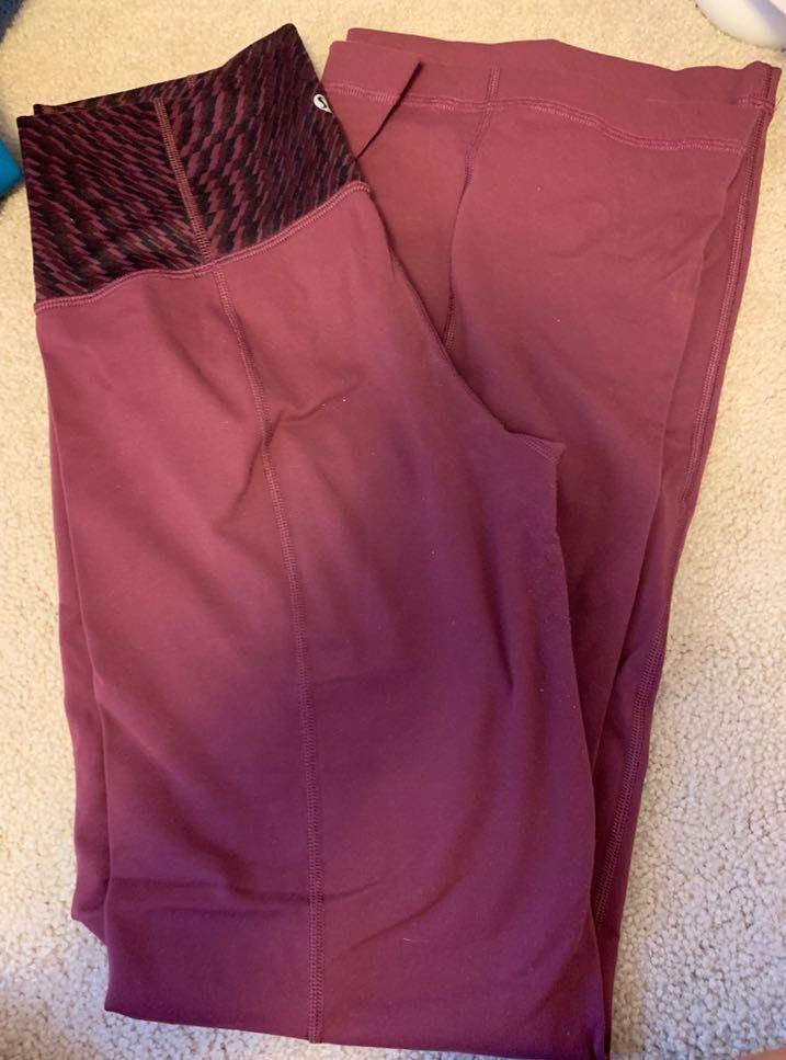 Lululemon Maroon Yoga Pants