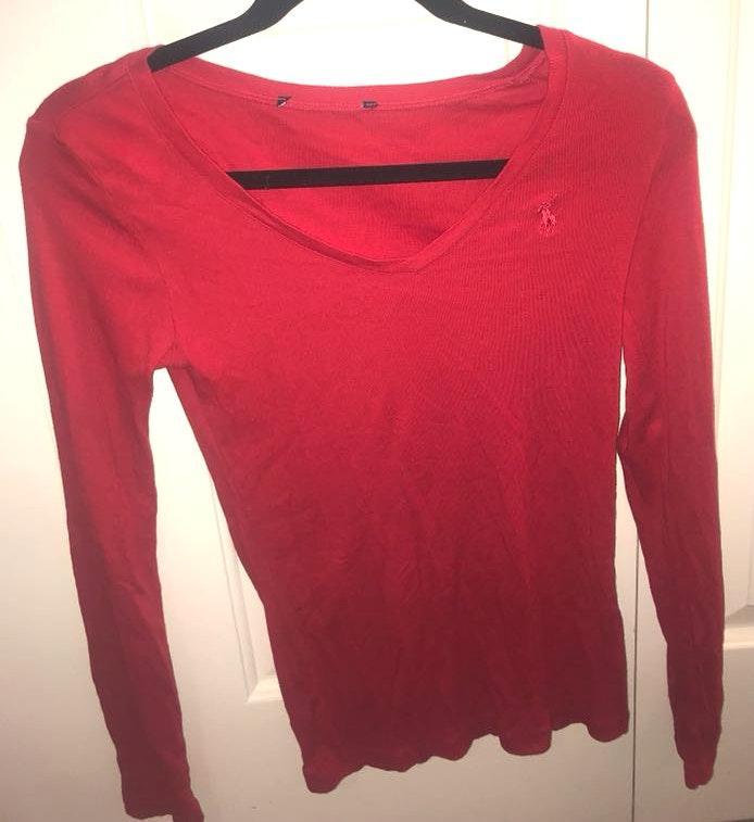 U.S. Polo Assn. Red, thin long sleeve