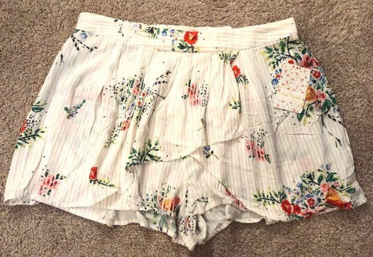Free People Floral Flowy Shorts