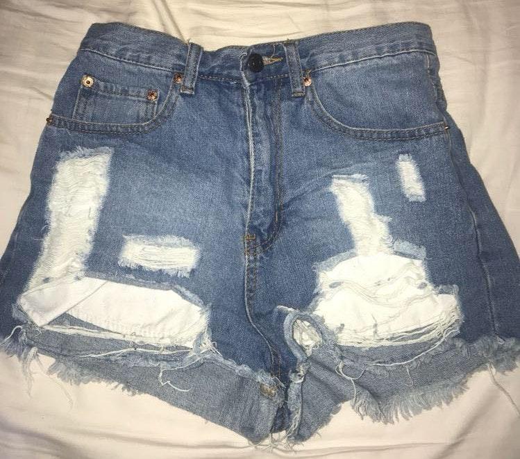 B.Original denim high waisted shorts