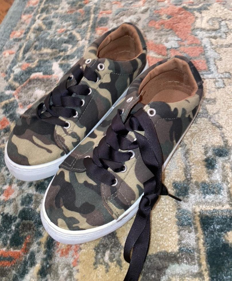 Qupid Camo Sneakers | Curtsy