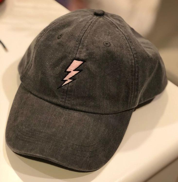 Riff Raff Pink Lightning Bolt Ball Cap