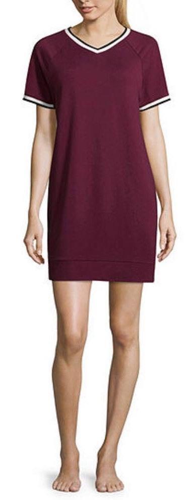 flirtitude Active Deep Ruby NWT V-Neck Dress..Size S