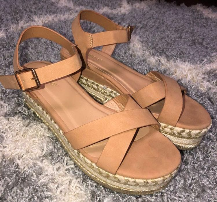 These Three Boutique Nude Espadrille