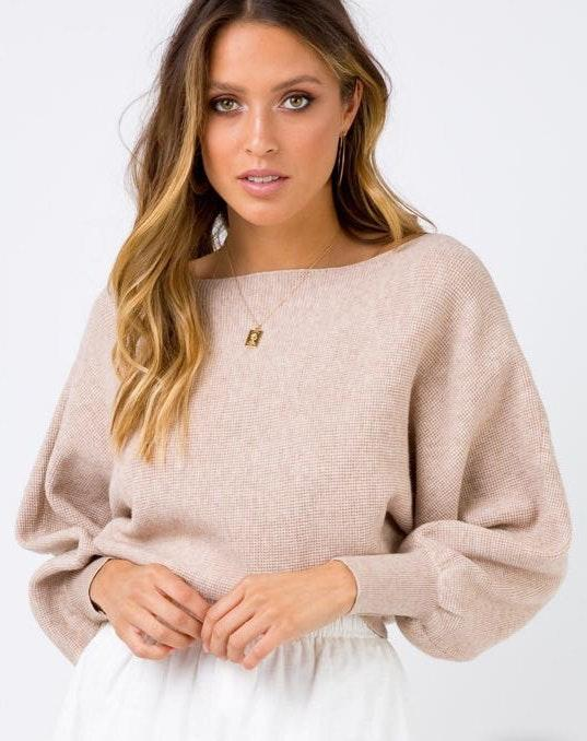 Princess Polly Beige Atomic Love Jumper