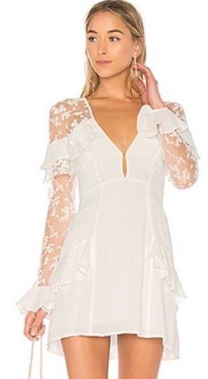 For Love & Lemons For Love And Lemons Rosebud Embroidery Dress