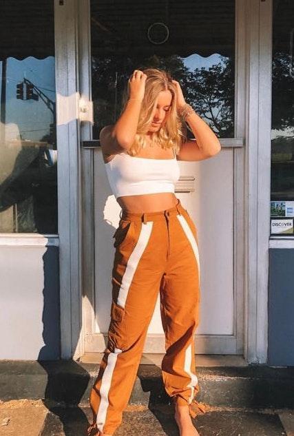 Hazel Boutique Tan Cargo Pants