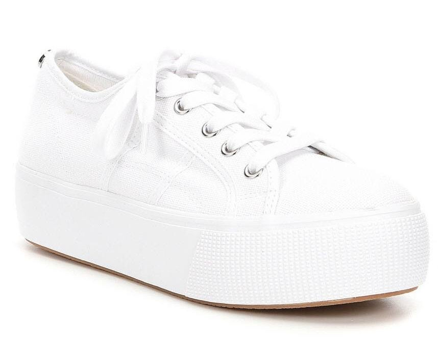 Steve Madden White Emmi Platform Sneakers